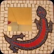 spiegellijst mozaïeken salamander